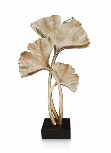 The Mia Dekoratif Gingko - 55 Cm Gold Altın
